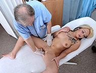 Sandra, 19 years. Checkup with anal dilation, electro-therapy, enema, ultrasound,  frenulum, vibrator orgasm heartbeat, suppository and injections.