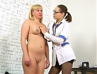 Medical lesdom pussy inspection
