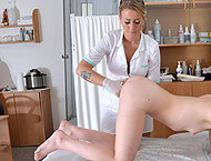 18 YEARS. Examination with breasts and abdominal exam, feet, physicals, anal & vaginal exam, ultrasound, enema, two speculums, vibrator orgasm heartbeat, suppository and much more!
