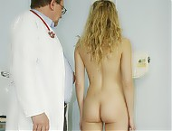 Sam very kinky gyno pussy speculum examination at bizarre gyn clinic by perverse clinician