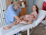 Jessica, 20 years. Exam with measurements, physical, anal and vaginal examination and ultrasound, two speculums and vibe orgasm stethoscope